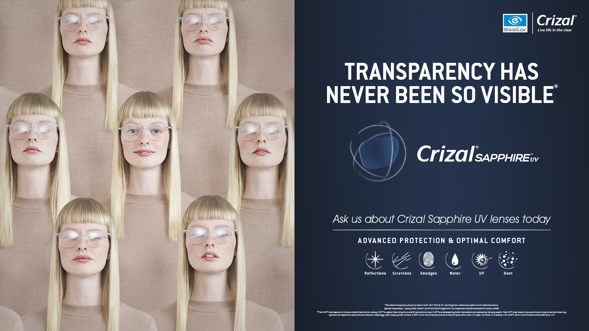 Crizal Sapphire | UV Lenses | McCrystals Opticians | Dungannon